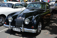 JAG ~ Drop or Fixed Head? (1) (Jungle Jack Movements (ferroequinologist)) Tags: jag jaguar big cat britain british english marque xk 140 drophead fixed roof cream black act australian capital territory terribly day parkes car auto automobile vehicle sedan motor saloon classic collectible veteran vintage rare beautiful restored hottie carbie carburettor injected fast great australia driver drive speed brake spin wheel exhaust paint seat hood engine litre hp horsepower gears shift clutch tour owner proud bonnet colour transport pride white roadster sportster coupe convertible