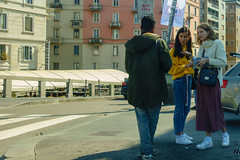 Milan. WI-FI Area. (dagboshoots) Tags: rx100ms3 rx100 sony milano milan italy richgirls seller street travel worktravel work car window money freewifi wifi confused girls young youth fashion streetfashion dagboshoots dagbo