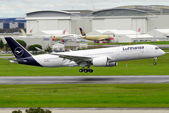 First Lufthansa's Airbus A350 with the revised livery back from maiden flight. (David B. - just passed the 7 million views. Thanks) Tags: airbus a350900 a350941 airbusa350900xwb a350900xwb lufthansa toulouse hautegaronne midipyrénées occitanie france aviation avion avgeek plane airport airplane flight fly flying aircraft
