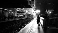 Walking around osaka station at dusk. (明遊快) Tags: station japanese 大阪駅やで dusk evening