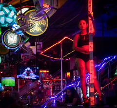 Pole Dreamer (Rob-Shanghai) Tags: poledancing pole dancer thailand phuket patong nightlife girl sad rx10m2