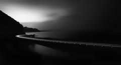 Afterglow (Emerald Imaging Photography) Tags: seascape seacliffbridge wollongong longexposure le mountains mountain royalnationalpark rnp sydney southcoast nsw aust australianlandscape clouds light lighttrails cars