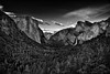 A Wide Angle Setting at Tunnel View to Take in Yosemite Valley (Black & White) (thor_mark ) Tags: nikond800e lookingeast day6 triptopasoroblesandyosemite yosemitenationalpark capturenx2edited colorefexpro blackwhite silverefexpro2 tunnelview halfdome pacificranges sierranevada yosemiterittersierranevada centralyosemitesierra yosemitevalley outside trees hillsideoftrees blueskieswithclouds mountains mountainsindistance mountainsoffindistance nearsunset sunsettime sunsetlight evergreens landscape nature bridalveilfall cathedralrocks falls waterfall waterfalls 617ft188metres ahwahneecheenamepohono spiritofthepuffingwind 3000feethighgranitemonolith 900meterhighgranitemonolith elcapitan totokonoolah mountainside sentinelpoint cloudsrest sentinelrock portfolio project365 california unitedstates