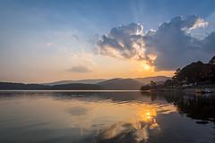 20180414-_IMG6243-HDR (Huu ND) Tags: hdr irix 15mm f24 pentax k3 stacking bracket lake sky cloud ray water sunset mountain serene boat landscape