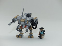 Drone and Operator (robbadopdop) Tags: lego moc mecha mech military landscpae scifi apocalypse city war drone