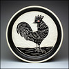 Rooster Plate (Rodrick Dale) Tags: rooster cock pottery ceramic plate carving slip