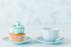 Cupcake with blue cream (vinayakjnavalur1) Tags: ifttt 500px cupcake blue pastel decoration cup copy space minimal horizontal wedding food empty text cake pie dessert sugar sweet calorie gentle minimalism frosting birthday bake party buttercream celebration background home copyspace snack