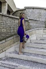 Rosie - break from heels. (gregoryscottclarke photography) Tags: rosanneneddo museumofcanadianhistory pink black blue boat stone stairs pathway summer hat