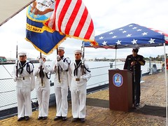 IOWA 47 Remembrance 4-19-2018 (16) (Konabish ~ Greg Bishop) Tags: battleshipiowarememberingthe47 warship bb61 ussiowa the47 turret2 ceremony remembrance sanpedrocalifornia portoflosangeles pola southerncalifornia