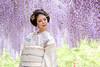 Under the wisteria (HarQ Photography) Tags: fujifilm fujifilmxseries xt2 xf35mmf14r portrait wisteria flower japan hyogo model kimono beauty