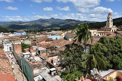 Townscape from tower (davidsharp159) Tags: cuba trinidad street streetscene streetphotography streetshot streets urban urbanlandscape sky view aerialview birdseyeview cloud