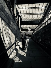 Rachmaninoff Concerto for Piano No.2 (sjpowermac) Tags: rachmaninoff briefencounter carnforth milfordjunction shadow clock subway railings romance light joyce whitchurch