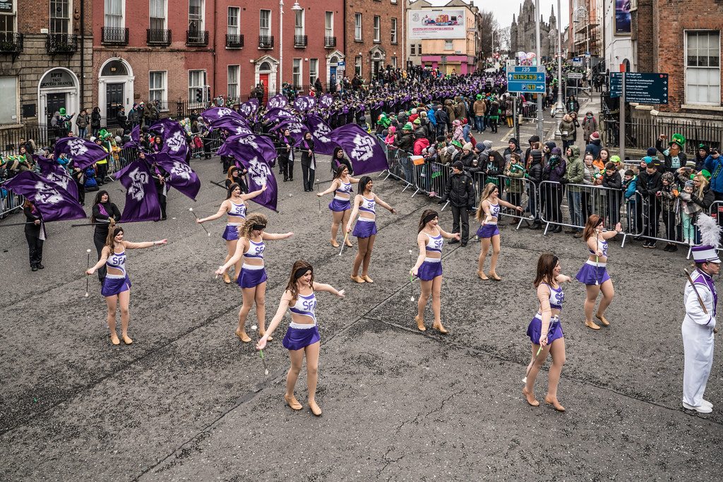 THE LUMBERJACK MARCHING BAND IN ACTION [ ST. PATRICKS DAY PARADE IN DUBLIN 2018]-137575