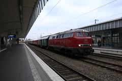 V160 002 te Munster HBF (vos.nathan) Tags: mietlok v160 002 br 160 baureihe deutsche bundesbahn db landeseisenbahn lippe munster hbf hauptbahnhof