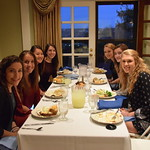 Dr. Richardson hosts a dinner for the Honors students