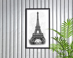"""Picture """"Paris"""" wall decor (Bigger * Picture) Tags: frame picture biggerpicture paris decor wall art sketch home housing decorating mesh sl secondlife"""