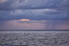 Regen auf See (Florian Seiffert) Tags: msartania sonya6500 sony schauer sea rain huntingthelight licht bremerhaven wesermündung meer see regen