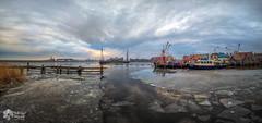 Panorama Stavoren (nsiepelbakker) Tags: stavoren winter cold panorama clouds harbour omdem1markii samyang75