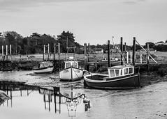 Low tide (aljones27) Tags: monochrome bw blackandwhite norfolk coast coastal thornham boat boats