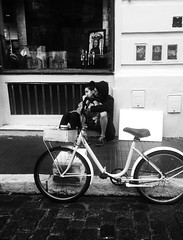Street of Buenos Aires (Monica@Boston) Tags: ngc love shop window bike travel iphone people argentina buenosaires street monochrome blackandwhite