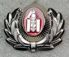 Mongolia Police Cadet (Sin_15) Tags: mongolian mongolia badge insignia police hat beret cap law enforcement emblem