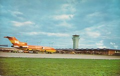 AUSmueller03 (By Air, Land and Sea) Tags: texas airport austin aus robertmuellermunicipalairport postcard terminal aircraft airline airplane braniff 727 boeing b727