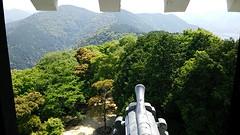 Castle View (SW) (Hazbones) Tags: samurai sengokujidai iwakuni yamaguchi yokoyama castle kikkawa suo chugoku mori honmaru ninomaru demaru wall armor spear teppo gun matchlock map ropeway