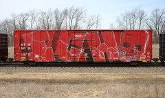 Ich (quiet-silence) Tags: graffiti graff freight fr8 train railroad railcar art ich ichabod yme circlet wholecar atw atw84155