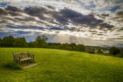 "Killarney, Ireland: ""Point of Reflection"" (rocinante11) Tags: bench green clouds ireland killarney ringofkerry canoneos7d"