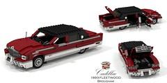 Cadillac Fleetwood Brougham - 1993 (lego911) Tags: cadillac fleetwood brougham 1993 1990s bof frame luxury v8 lt1 limousine saloon sedan fullsize usa america american auto car moc model miniland lego lego911 ldd render cad povray caddy dbody