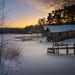 Winter evening at Vanhaniemi