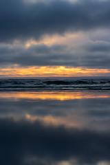 Washington coast sunset (Tzacol) Tags: washington beach sunset orange blue clouds water ocean sony a7ii 90mm macro spring