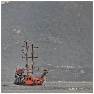 Korsan gemisi.