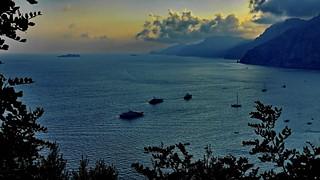 Dusk at Golf of Salerno