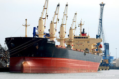 SANTORINI ISLAND Bulk Carrier (Aviation and more) Tags: santorini island bulk carrier ghent 2018 port ship boat massive metal