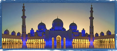 The Grand Mosque - A view from within (Shedraway Photos) Tags: grandmosque abudhabi dusk colorfulsky