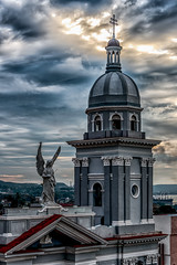 Prelude to Sunset on the top of Casa Granda - 5 (AaronP65 - Thnx for over 13 million views) Tags: casagranda santiago cuba basilica evening cupola