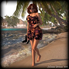 Day at the Beach (JuliannaSeriman) Tags: monso lelutka maitreya juli justjuli juliannaseriman azul tranquiltikiisland beach vintagetouch free freebie freeinsl freeinsecondlife group groupgift gift freegift