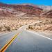 empty road to barren lands