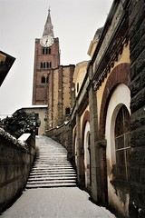 IMG_9027 (olivieri_paolo) Tags: supershots snow stairs church tower prospective pinerolo