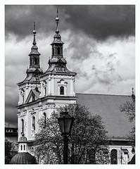 St Florian's Church (Patron Saint of Poland) (Monochrome) Krakow (Olympus OMD EM1 II & M.Zuiko 12-100mm f4 Pro Zoom) (markdbaynham) Tags: krakow cracow poland city cityscape citybreak oldtown staremiasto historic polish building urban metropolis olympus olympusomd em1 em1ii em1mk2 12100mm mzd mzuiko zuikolic mft mirrorless micro43 microfourthird microfourthirds m43rd evil csc travelzoom bw monochrome omd