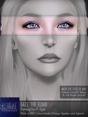 Astrae . Gaze The Eldar . Eyes Poster (Senzafine & Astrae) Tags: elvish elven eldar starlight eyes catwa mesh lelutka omega system astraecosmetics themakeoverroom tmr