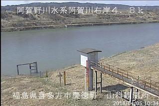 阿賀野川山科ライブカメラ画像. 2018/04/05 10:47