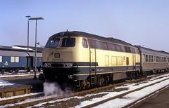 216 070  Goslar  14.03.87 (w. + h. brutzer) Tags: goslar eisenbahn eisenbahnen train trains deutschland germany diesellok dieselloks railway lokomotive locomotive zug 216 db webru analog nikon