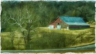Old highway; old barn....