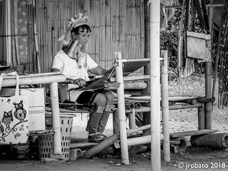 A Kayan Lahwi Tribeswoman @ work.