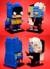 Brickheadz: Batman (Bronze Age) & Two Face (B:TAS) (Andrew Cookston) Tags: lego dc comics batman bruce wayne bronze age twoface harvey dent superhero custom moc brickheadz blue yellow black white red macro toy still life photography andrew cookston andrewcookston