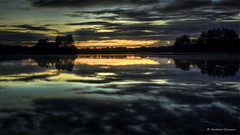 Sunset@Elbsee (Norbert Clausen) Tags: thebluehour bluehour blaue stunde landscape landschaft langzeitbelichtung lake see clouds wolken spiegelung night nacht sunset sonnenuntergang