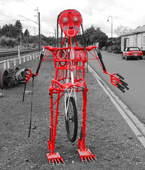 Red Metal Man (Thor Hilmarsson) Tags: stone colours pattern shape layers