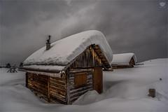 Winterperiod (bzphotographie) Tags: winter eis schnee berg hütte alpen dolomiten dolomiti snow wandern alm